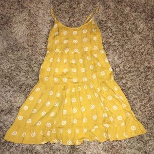 Mossimo & Supply Co. yellow flower swing dress